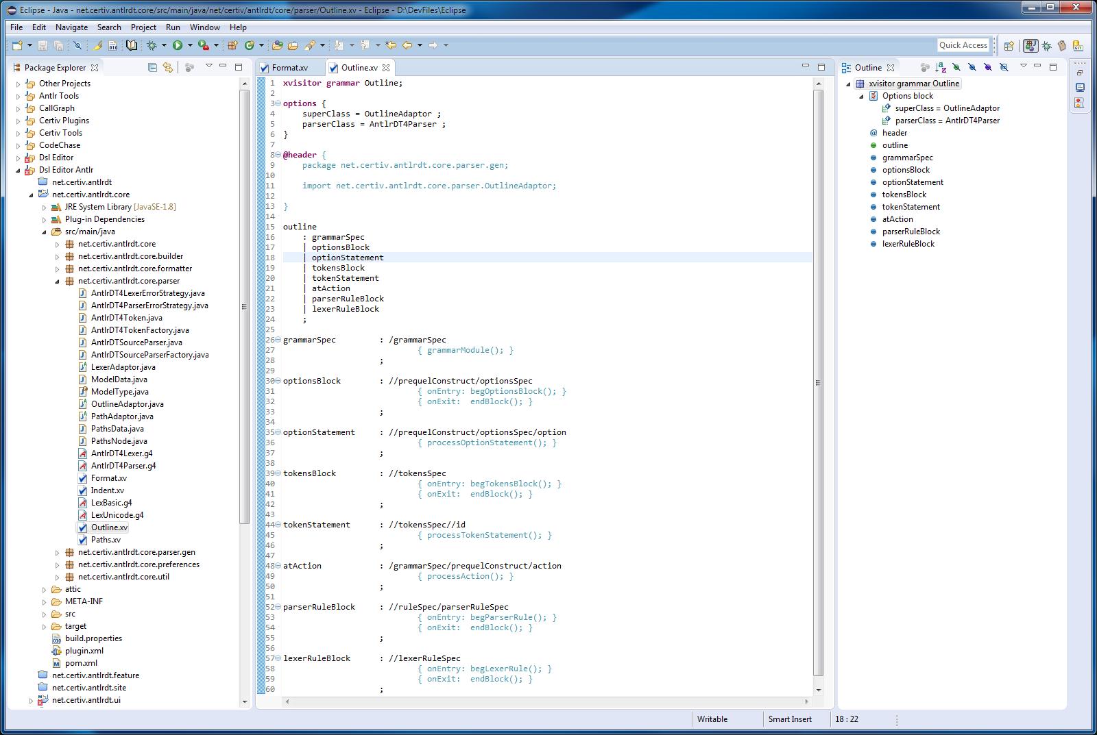 ANTLR Development Tools